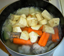 chicken nilaga - add carrots and potatoes